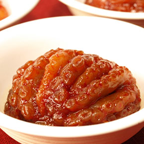 手長蛸の韓国風塩辛 タコキムチ